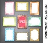 set of vintage frames  greeting ... | Shutterstock .eps vector #289531682