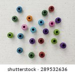 Color Wooden Beads Background