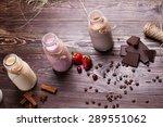 natural chocolate  vanilla and... | Shutterstock . vector #289551062