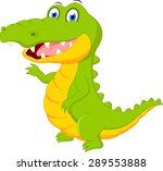 happy crocodile cartoon | Shutterstock . vector #289553888