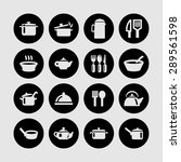 dishes icon set | Shutterstock .eps vector #289561598