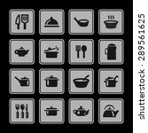 dishes icon set | Shutterstock .eps vector #289561625