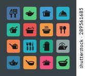 dishes icon set | Shutterstock .eps vector #289561685