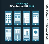 mobile app wireframe dark ui...