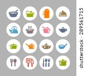dishes icon set | Shutterstock .eps vector #289561715