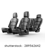 car seats isolated on white | Shutterstock . vector #289562642