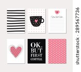 set of creative cards with... | Shutterstock .eps vector #289567736