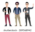 casual young men character ... | Shutterstock . vector #289568942