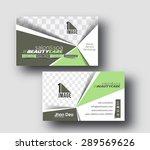 beauty care business card... | Shutterstock .eps vector #289569626