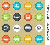 bus icon set | Shutterstock .eps vector #289570382