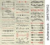 set of hand sketched doodle... | Shutterstock .eps vector #289570952