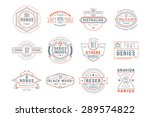 set of hipster vintage labels ... | Shutterstock .eps vector #289574822
