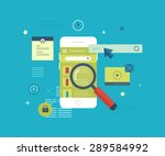 flat vector collection of... | Shutterstock .eps vector #289584992