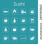 it is a set of sushi simple web ... | Shutterstock .eps vector #289585865