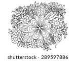 zentangle. flower pattern.... | Shutterstock .eps vector #289597886