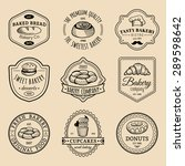 vector set of vintage bakery... | Shutterstock .eps vector #289598642