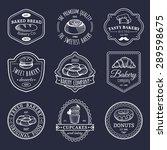 vector set of vintage bakery... | Shutterstock .eps vector #289598675