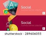 infographic flat design banner... | Shutterstock .eps vector #289606055