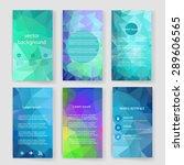 template. vector brochure... | Shutterstock .eps vector #289606565