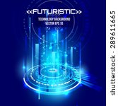 futuristic interface  hud  ... | Shutterstock .eps vector #289611665