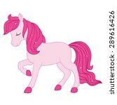 pink horse illustration. | Shutterstock .eps vector #289616426