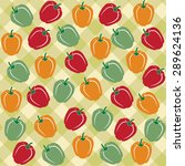 seamless pattern of sweet... | Shutterstock .eps vector #289624136