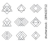 set of geometric shapes... | Shutterstock .eps vector #289633712