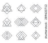 set of geometric shapes... | Shutterstock .eps vector #289633712