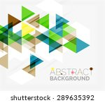 abstract geometric background.... | Shutterstock .eps vector #289635392