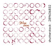 vector set of wine stains... | Shutterstock .eps vector #289636832