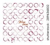 vector set of wine stains... | Shutterstock .eps vector #289636832