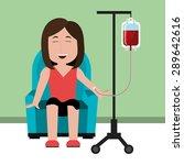 blood design over green... | Shutterstock .eps vector #289642616