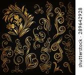 set of decorative hand drawn...   Shutterstock .eps vector #289642928