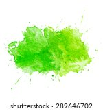 green watercolor splatters.... | Shutterstock .eps vector #289646702
