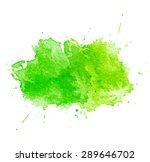 Green Watercolor Splatters....