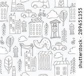 seamless black and white... | Shutterstock .eps vector #289651355