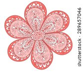 cute flower isolated on white.   Shutterstock . vector #289657046