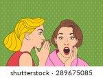 beautiful retro woman... | Shutterstock .eps vector #289675085