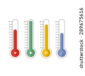 thermometer with medical icon  | Shutterstock .eps vector #289675616