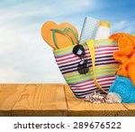 vacations  summer  beach bag. | Shutterstock . vector #289676522
