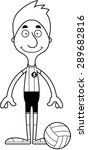 a cartoon volleyball player man ... | Shutterstock .eps vector #289682816