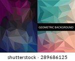 geometric patterns set.... | Shutterstock .eps vector #289686125