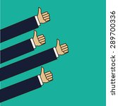 hand sign design over green... | Shutterstock .eps vector #289700336