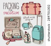 vector illustration set with... | Shutterstock .eps vector #289701302