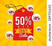 sale label design  vector... | Shutterstock .eps vector #289701632