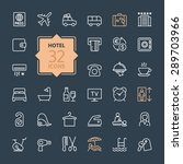 outline web icon set   hotel... | Shutterstock .eps vector #289703966