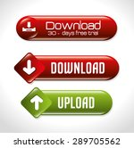 download design over white... | Shutterstock .eps vector #289705562