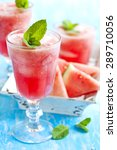 watermelon smoothies | Shutterstock . vector #289710056