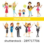 happy people at the party | Shutterstock .eps vector #289717706