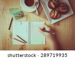 notebook and sticky paper ...   Shutterstock . vector #289719935